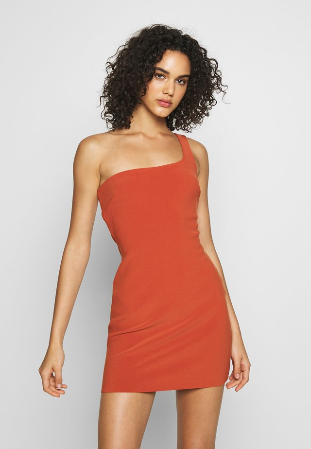 RUBY MINI DRESS - Vestido informal - rust