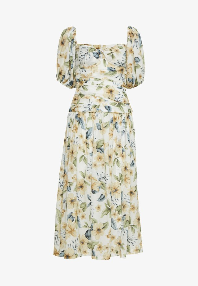 FLEURETTE OFF SHOULDER DRESS - Vapaa-ajan mekko - floral print