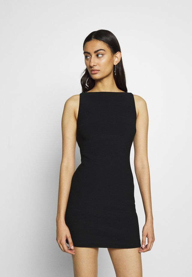 RAPHAELA MINI DRESS - Shift dress - black