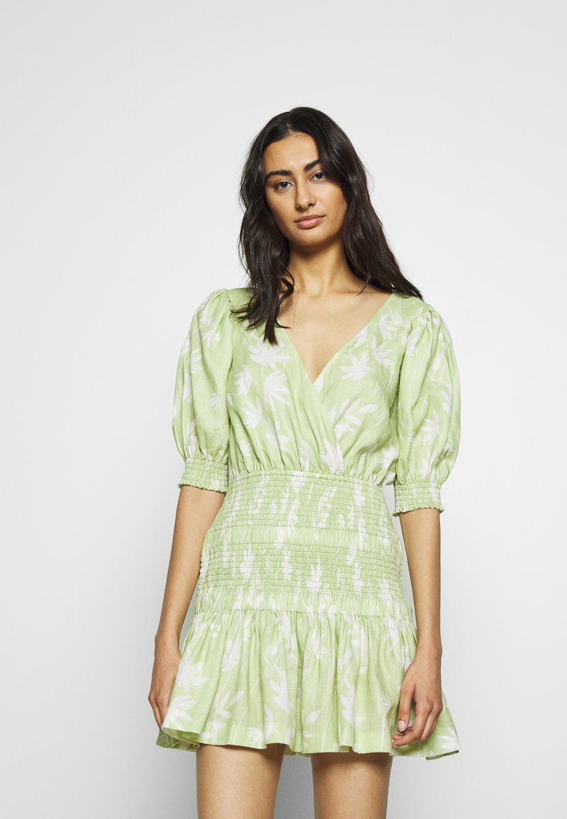 Bec & Bridge - WINDSWEPT MINI DRESS - Korte jurk - green