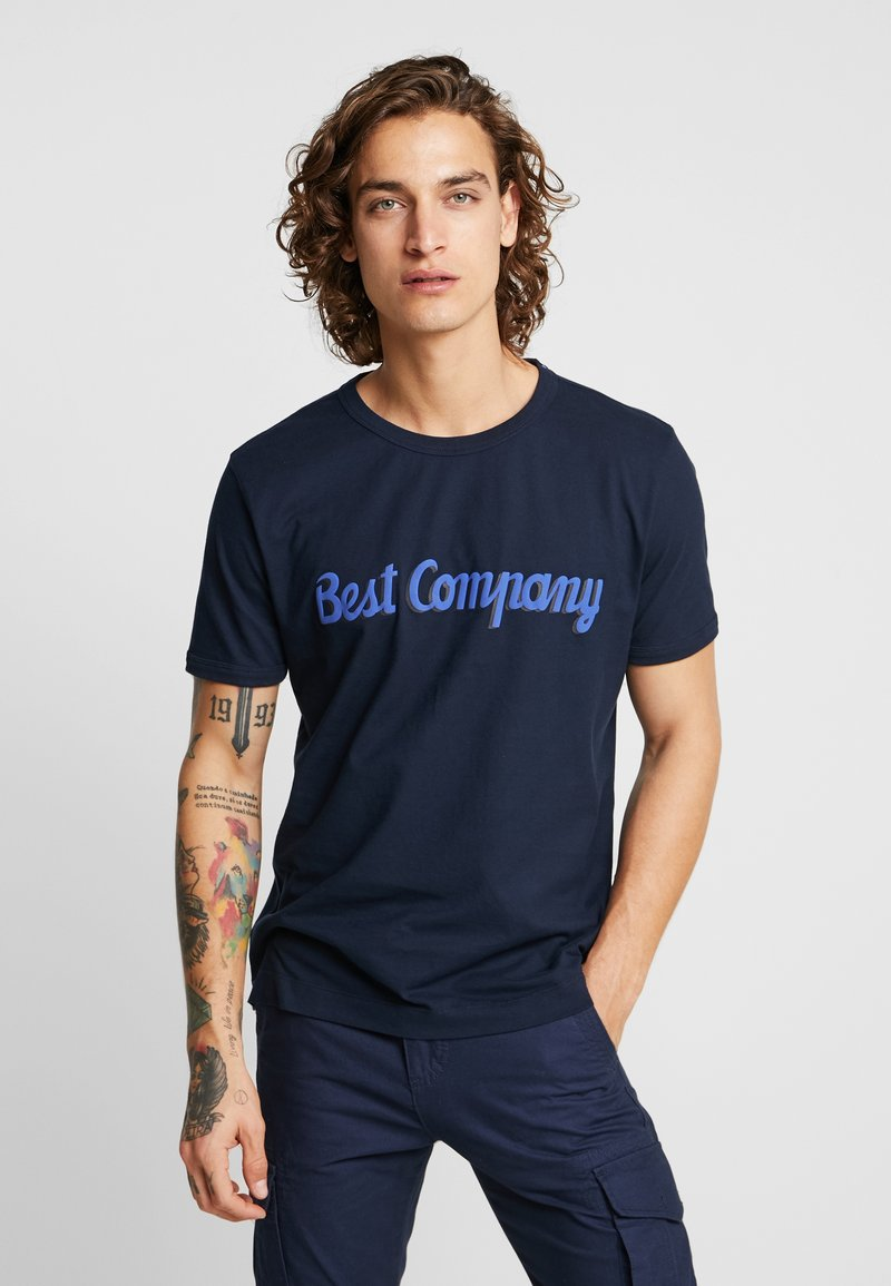 Best Company - BASIC  - T-shirt imprimé - navy