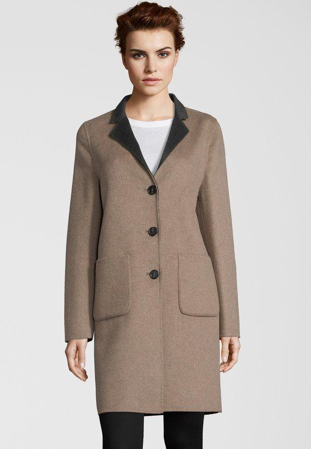 LEON - Classic coat - taupe/anthracite