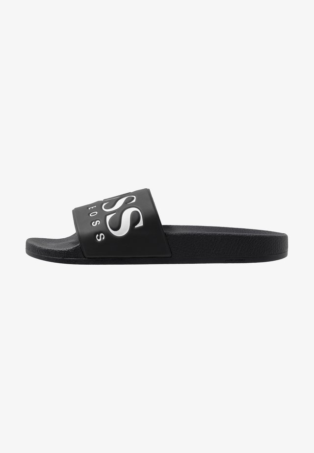 SOLAR SLID LOGO - Pantofle - black