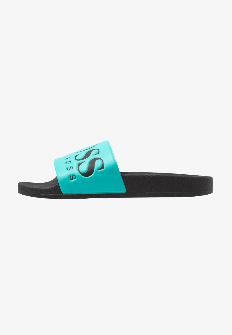 BOSS - SOLAR SLID LOGO - Pantolette flach - turquoise/aqua