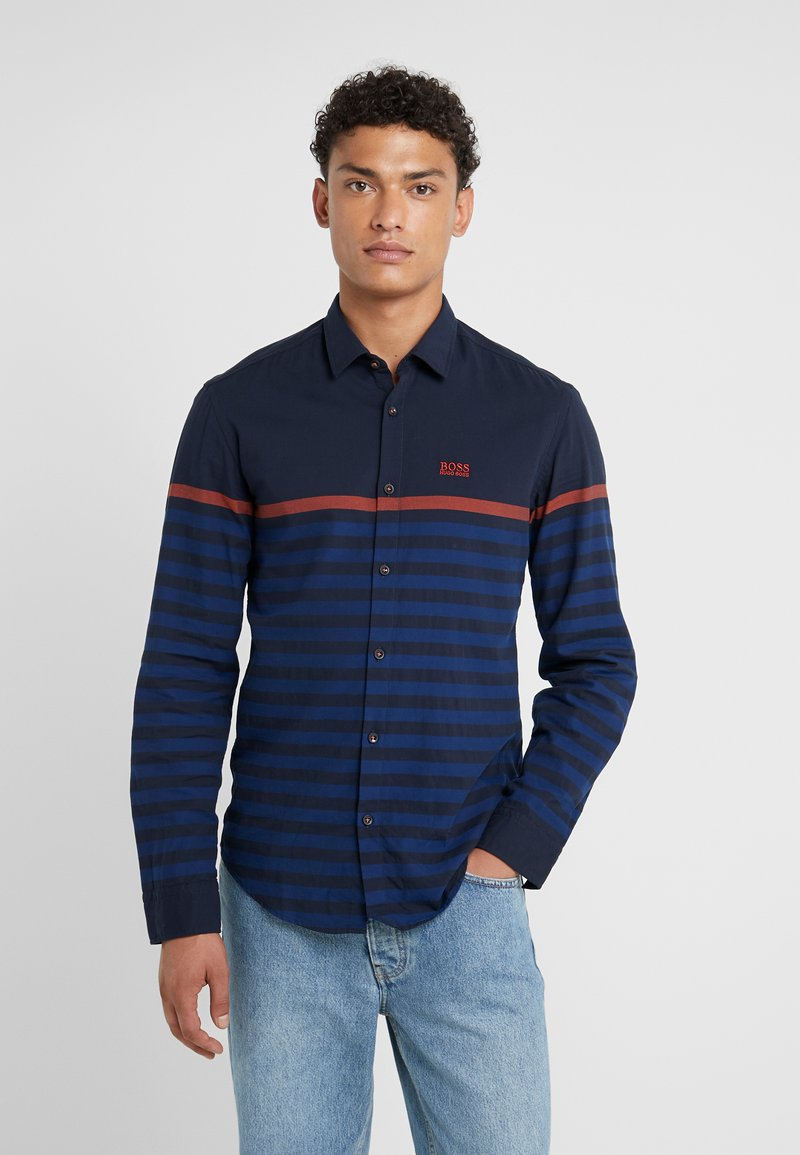 BOSS - BALIVO SLIM FIT - Shirt - dark blue