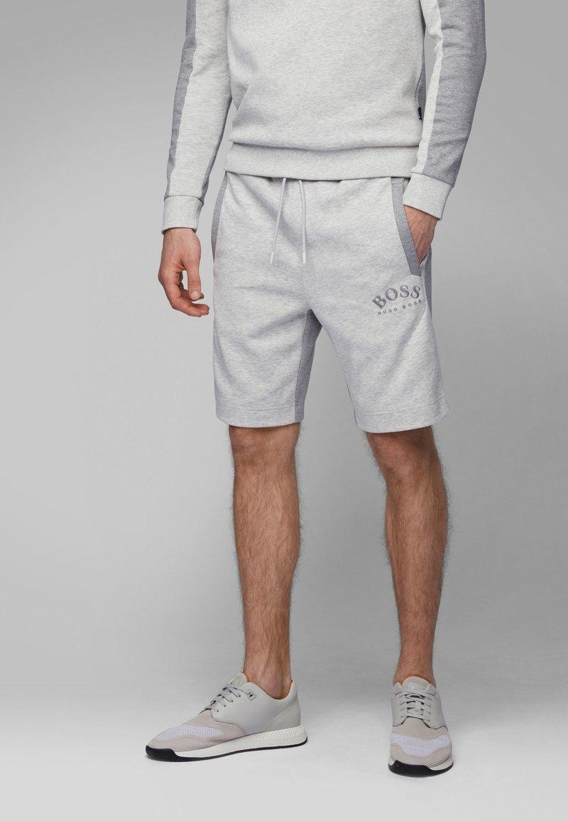 BOSS - HEADLO - Shorts - light grey