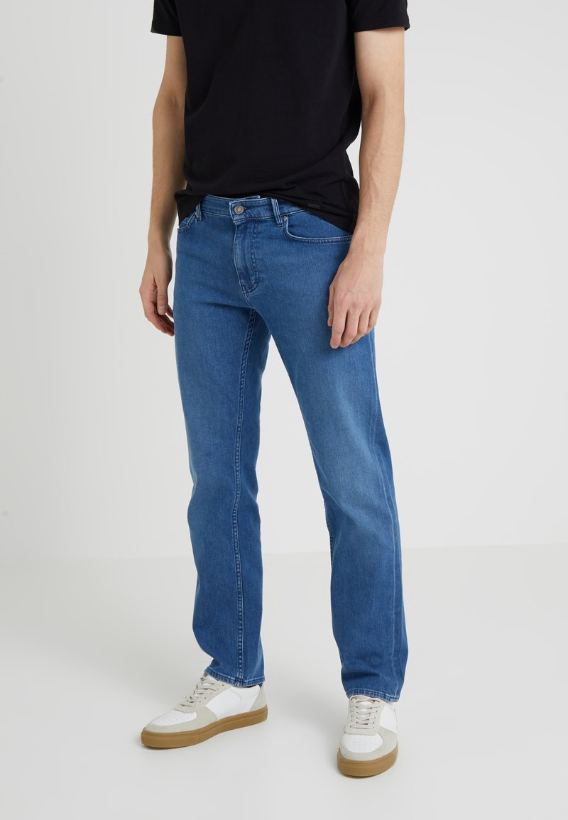 BOSS - MAINE - Jeansy Straight Leg - bright blue