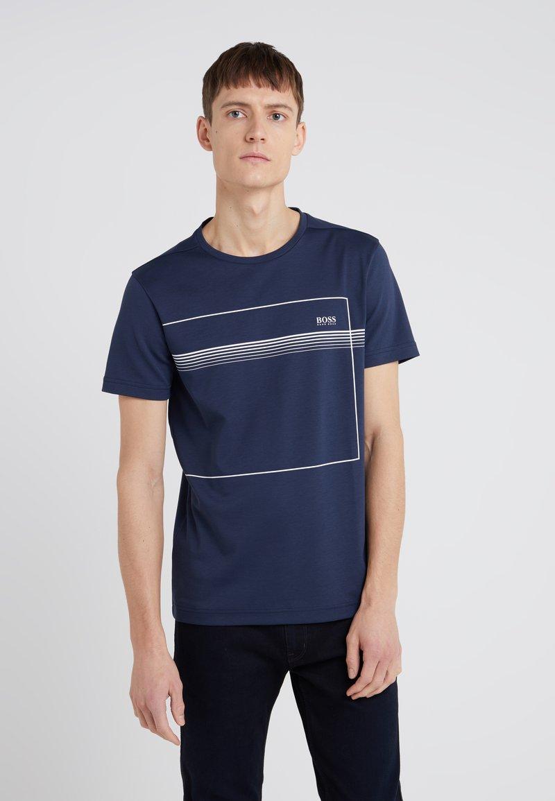 BOSS - TEEPIQUE - T-Shirt print - navy