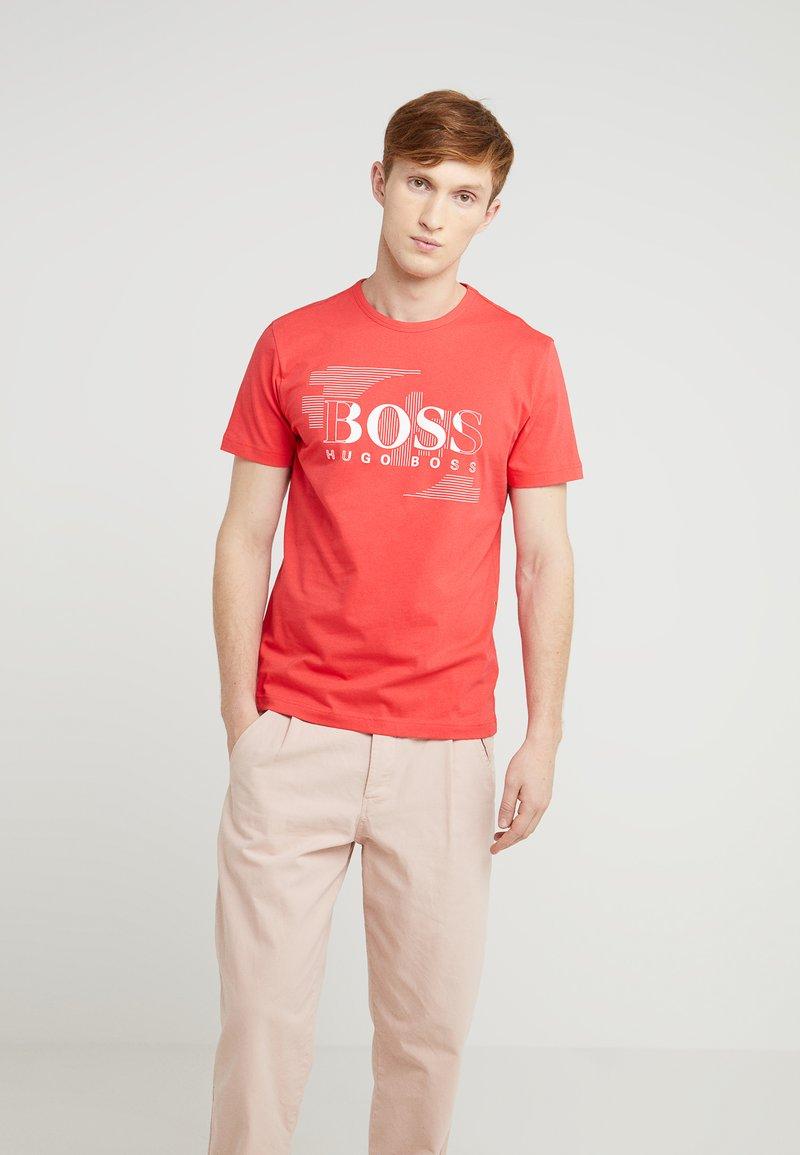 BOSS - T-Shirt print - hibiscus