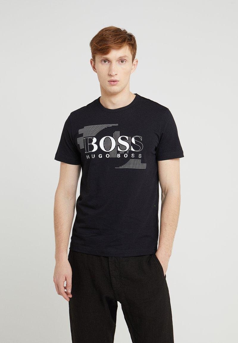 BOSS - T-shirt med print - black