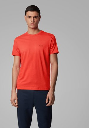 CURVED - Basic T-shirt - red