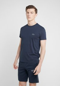 BOSS - TEE CURVED 10213473 01 - T-shirt basique - blue/silver - 0
