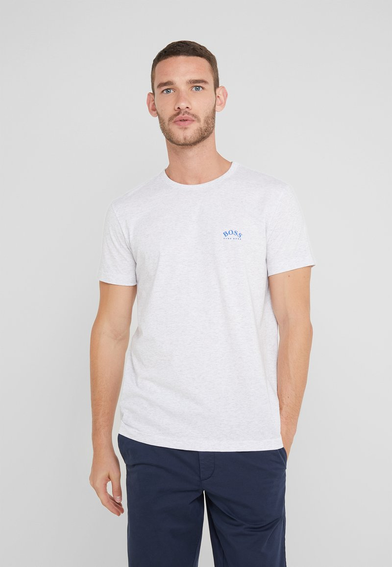 BOSS - TEE CURVED 10213473 01 - Camiseta básica - light pastel grey