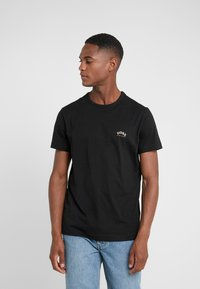BOSS - TEE CURVED 10213473 01 - Jednoduché triko - black/gold - 0