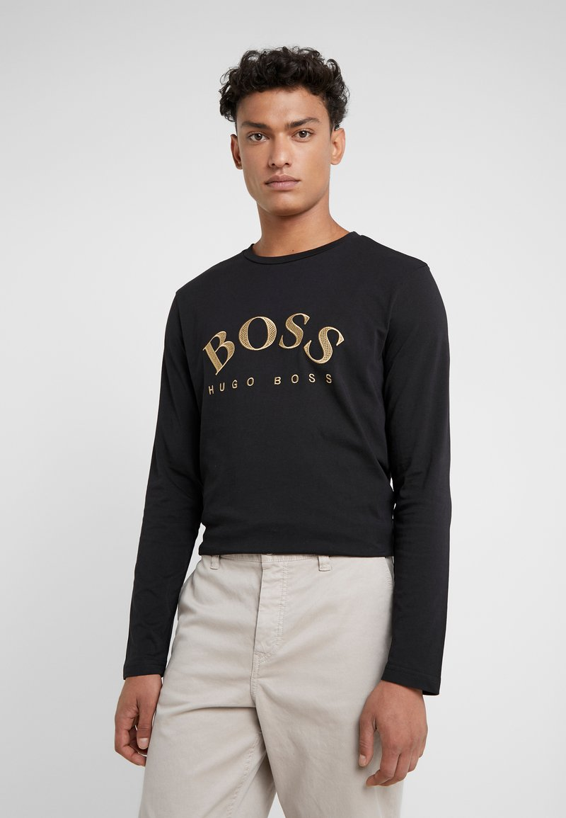 BOSS - TOGN  - Langærmede T-shirts - black/gold