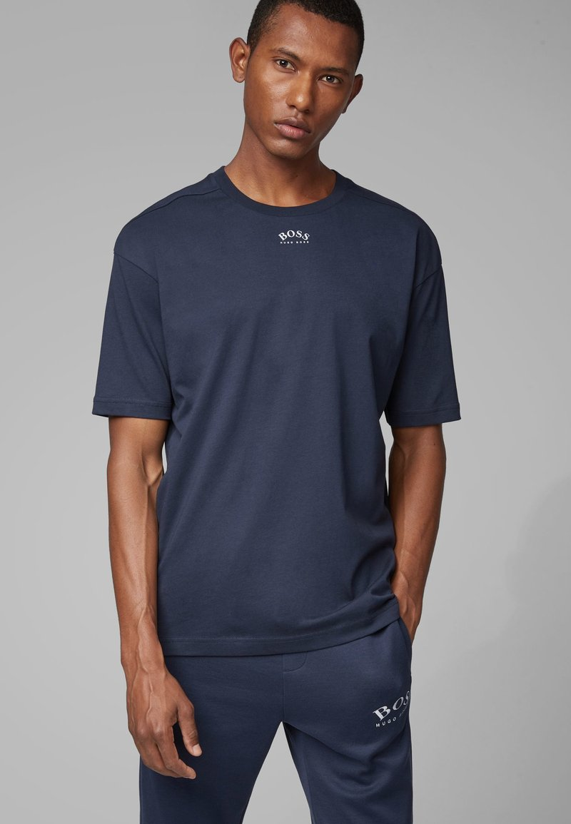 BOSS - TALBOA  - T-Shirt print - dark blue
