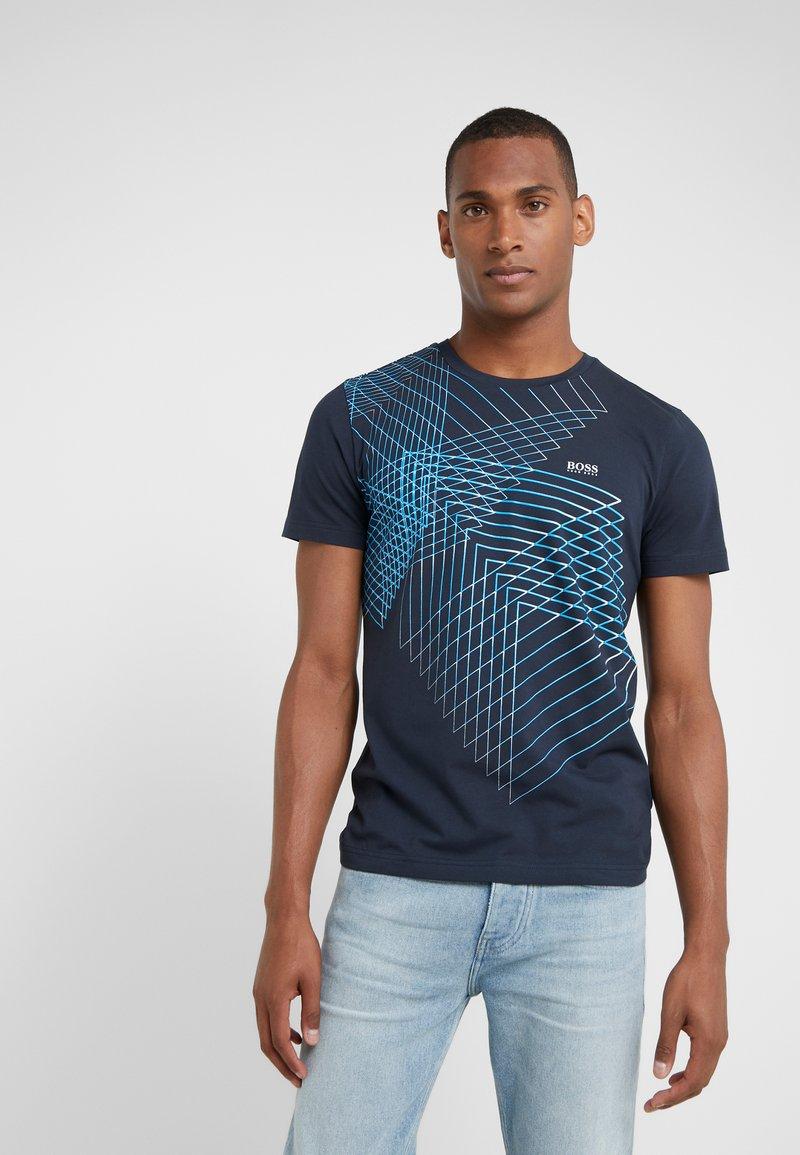 BOSS - TEEP SLIM FIT - T-Shirt print - navy