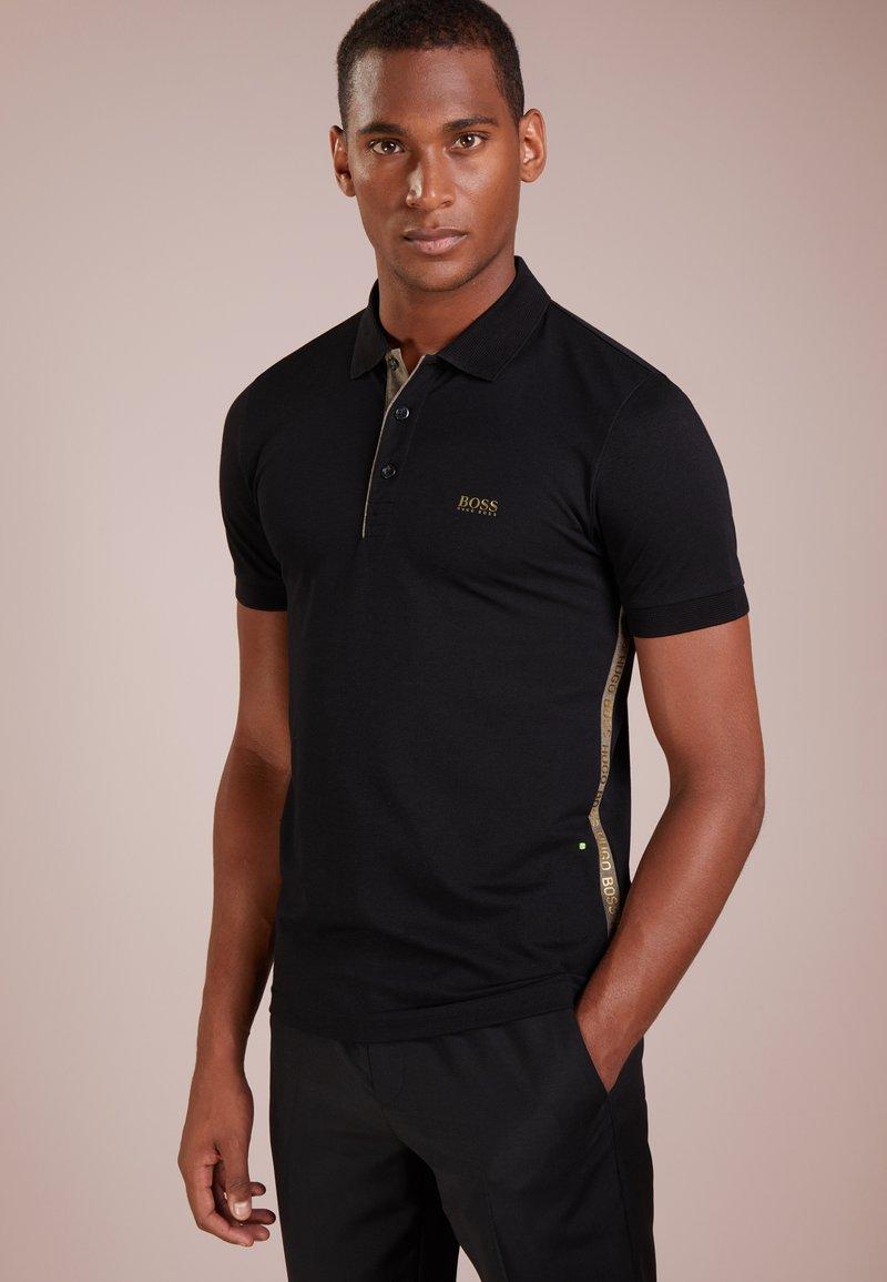 BOSS - PAULE SLIM FIT - Poloskjorter - black