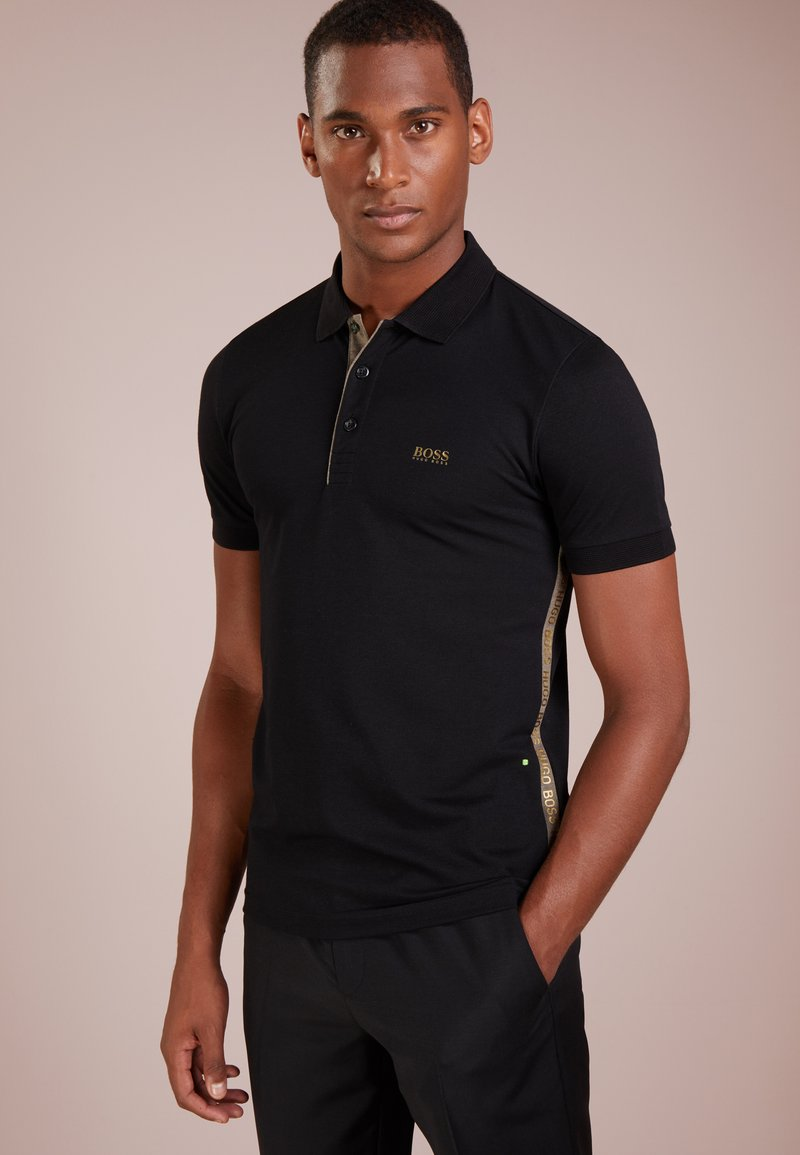 BOSS - PAULE SLIM FIT - Polo - black