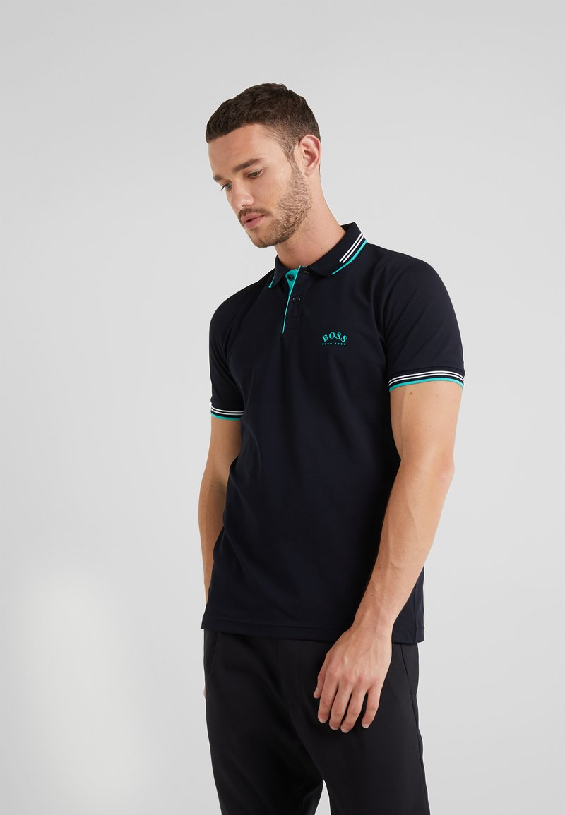 BOSS - PAUL CURVED  - Polo shirt - black