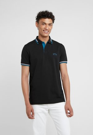 PAUL CURVED  - Piké - black/blue