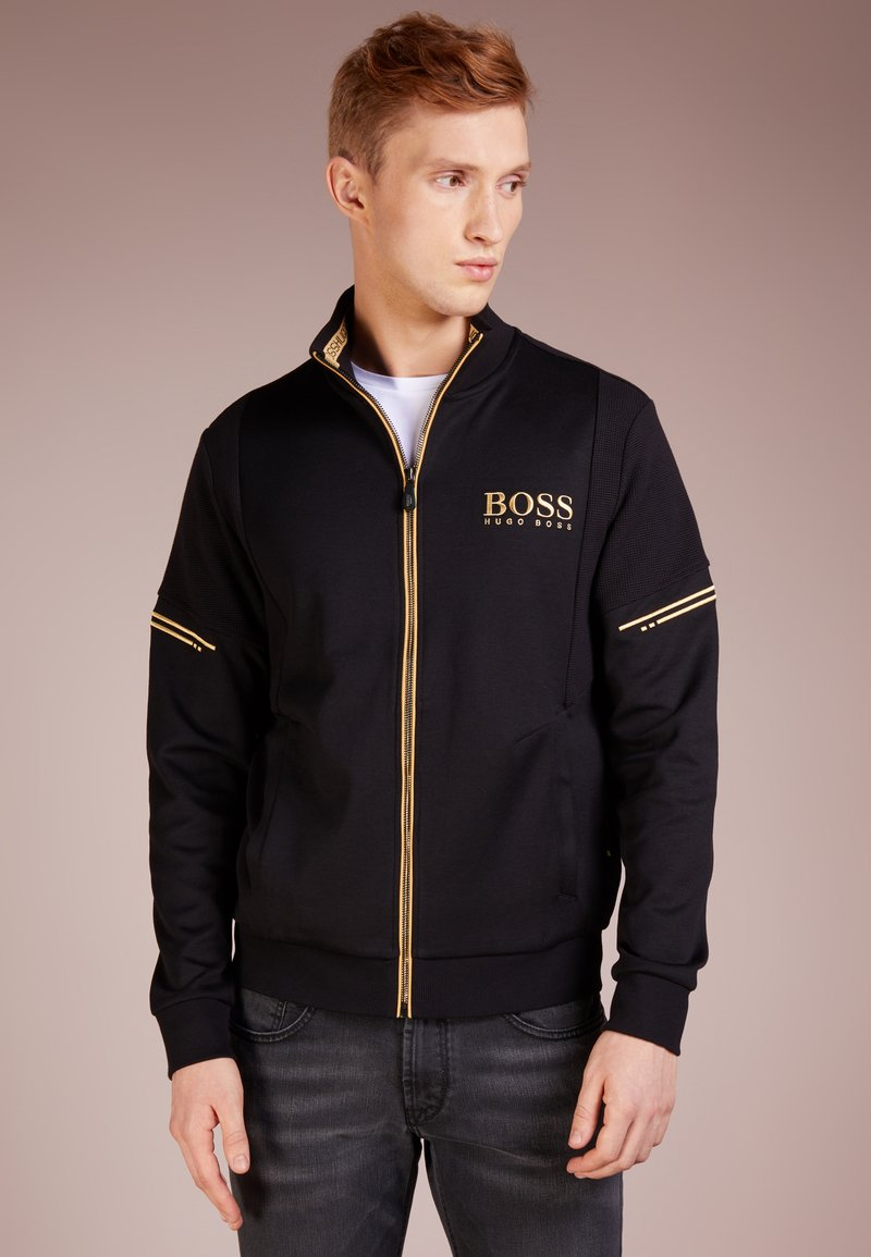 BOSS - SKAZ - veste en sweat zippée - black
