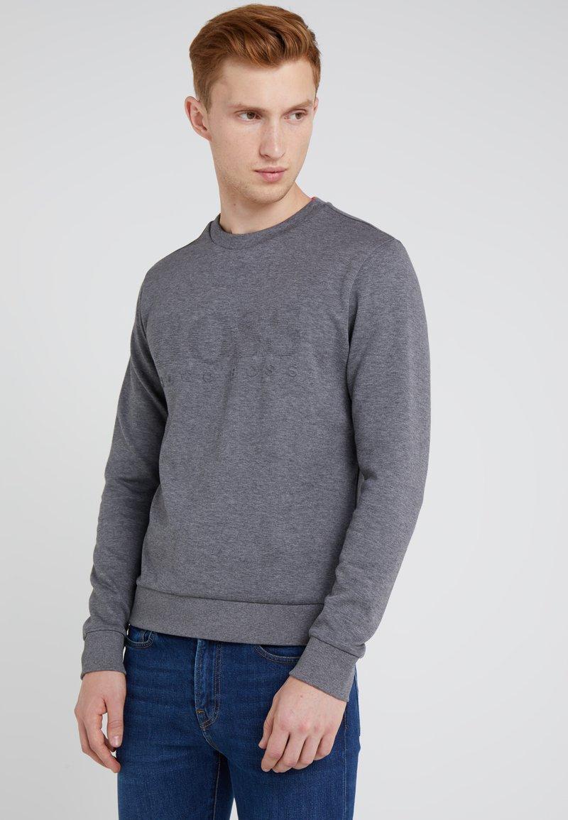 BOSS - SALBO SLIM FIT - Sweatshirt - medium grey