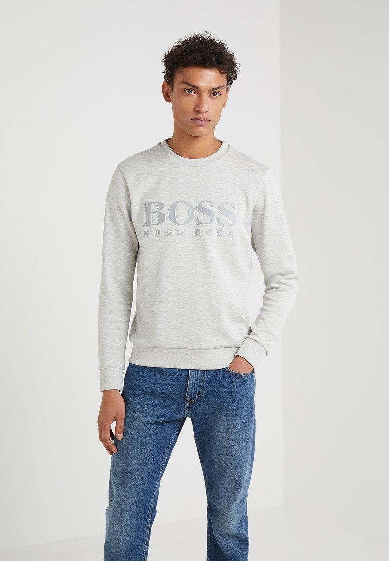 BOSS - SALBO SLIM FIT - Sudadera - light pastel grey