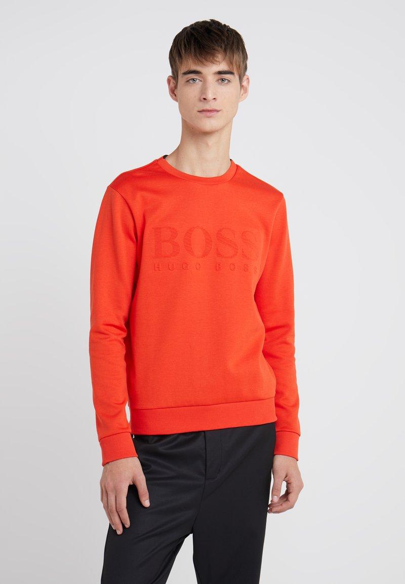 BOSS - SALBO SLIM FIT - Sweatshirt - dark orange