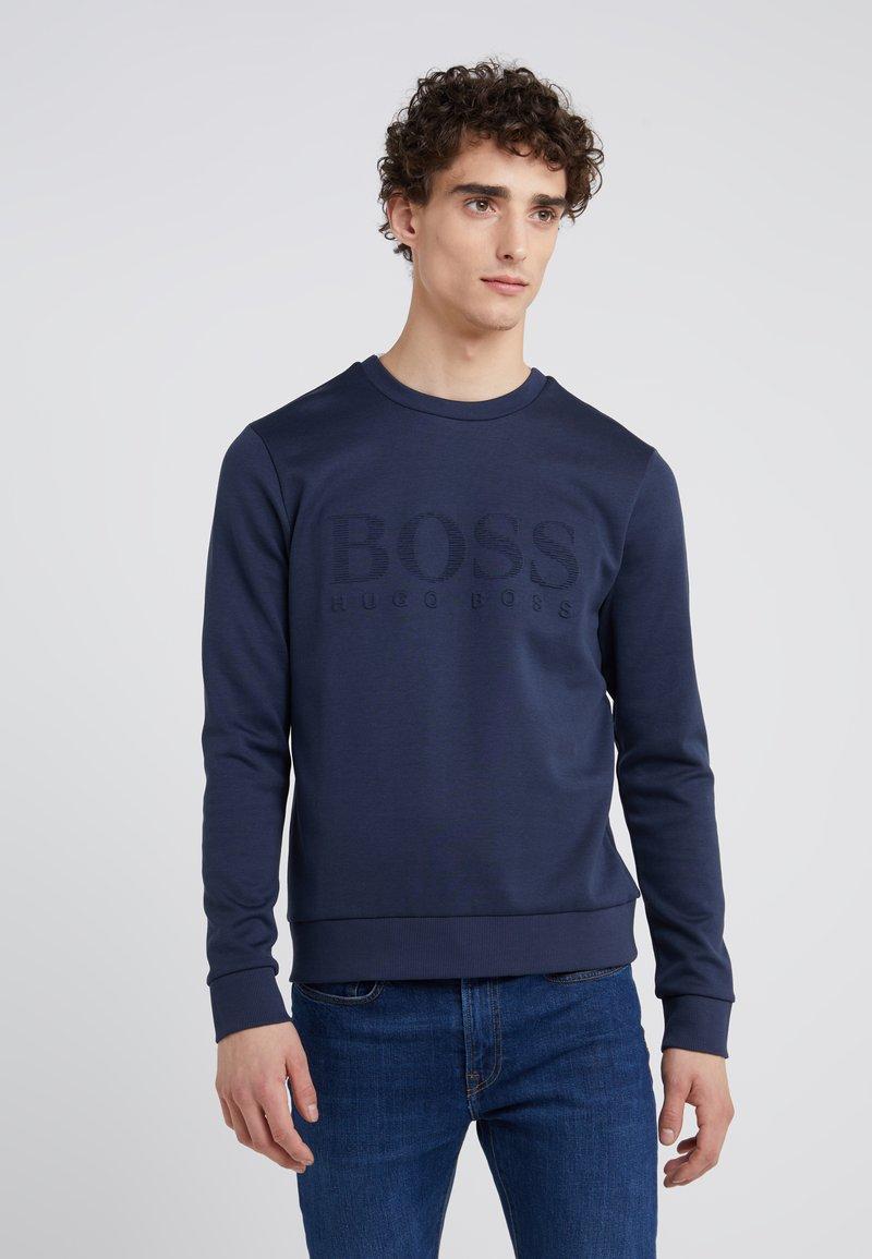 BOSS - SALBO SLIM FIT - Sweatshirt - navy
