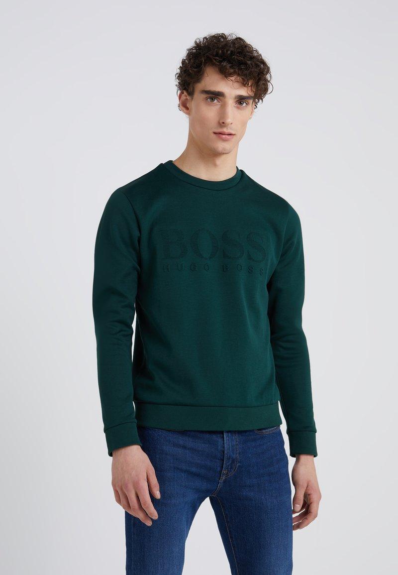 BOSS - SALBO SLIM FIT - Sweatshirt - open green