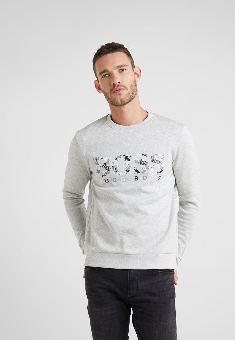 BOSS - SALBO ICONIC  - Sweatshirt - light pastel grey
