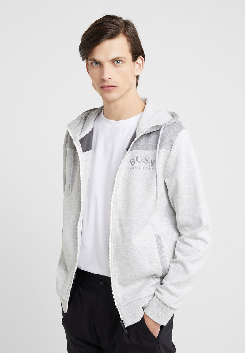BOSS - SAGGY  - Chaqueta de punto - light grey