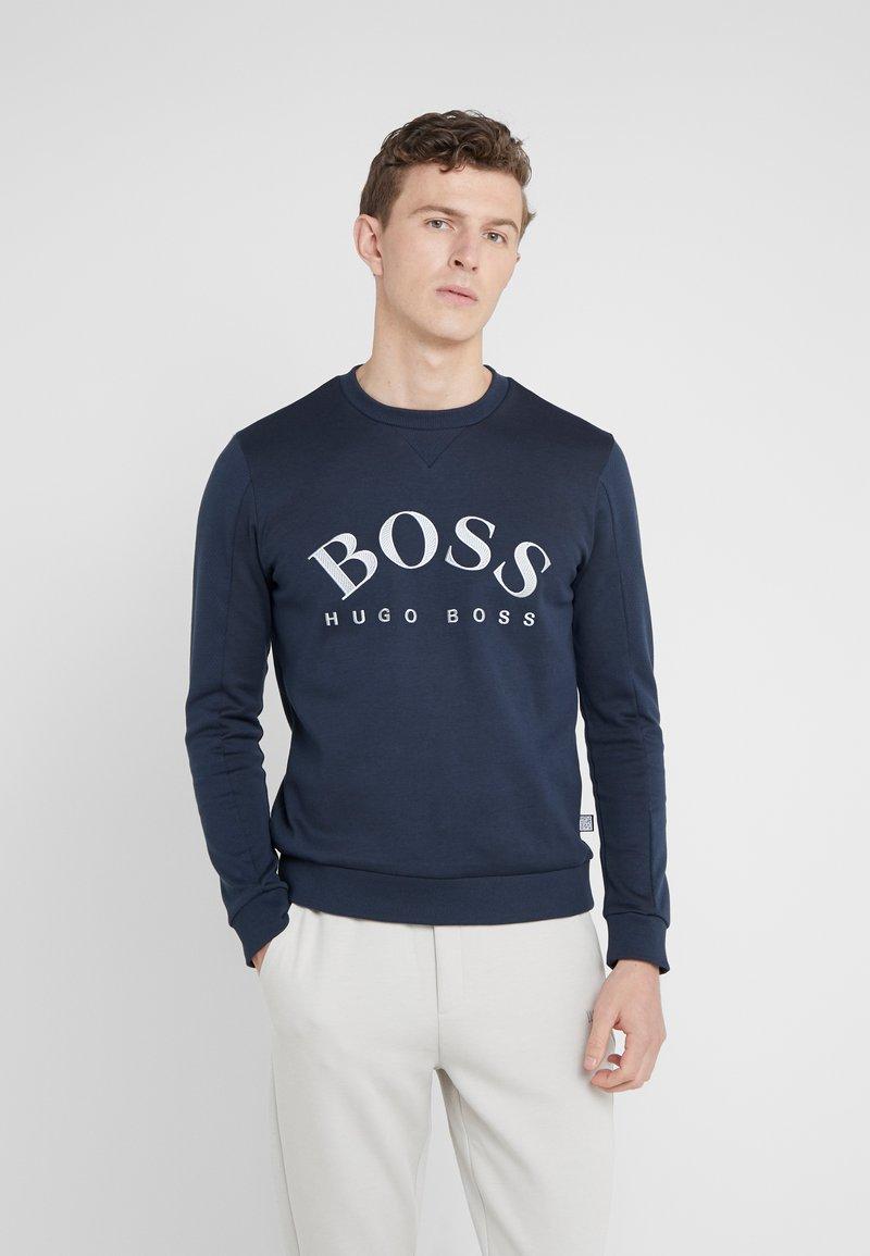 BOSS - SALBO - Sweatshirt - blue/silver