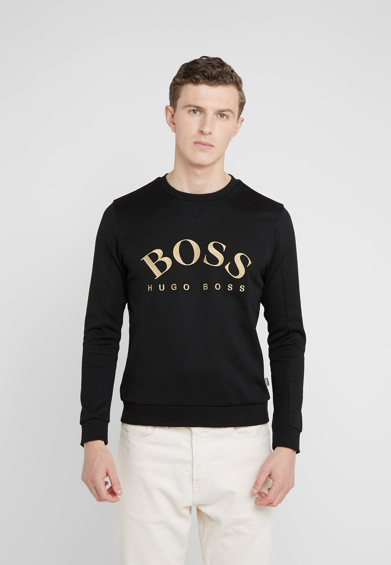 BOSS - SALBO - Sweatshirt - black/gold