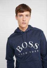 BOSS - SOODY - Bluza z kapturem - blue/silver - 3