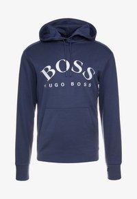 BOSS - SOODY - Bluza z kapturem - blue/silver - 4