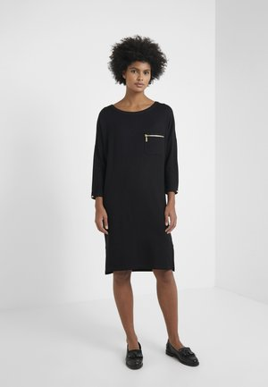 CIRCUIT DRESS - Jersey dress - black