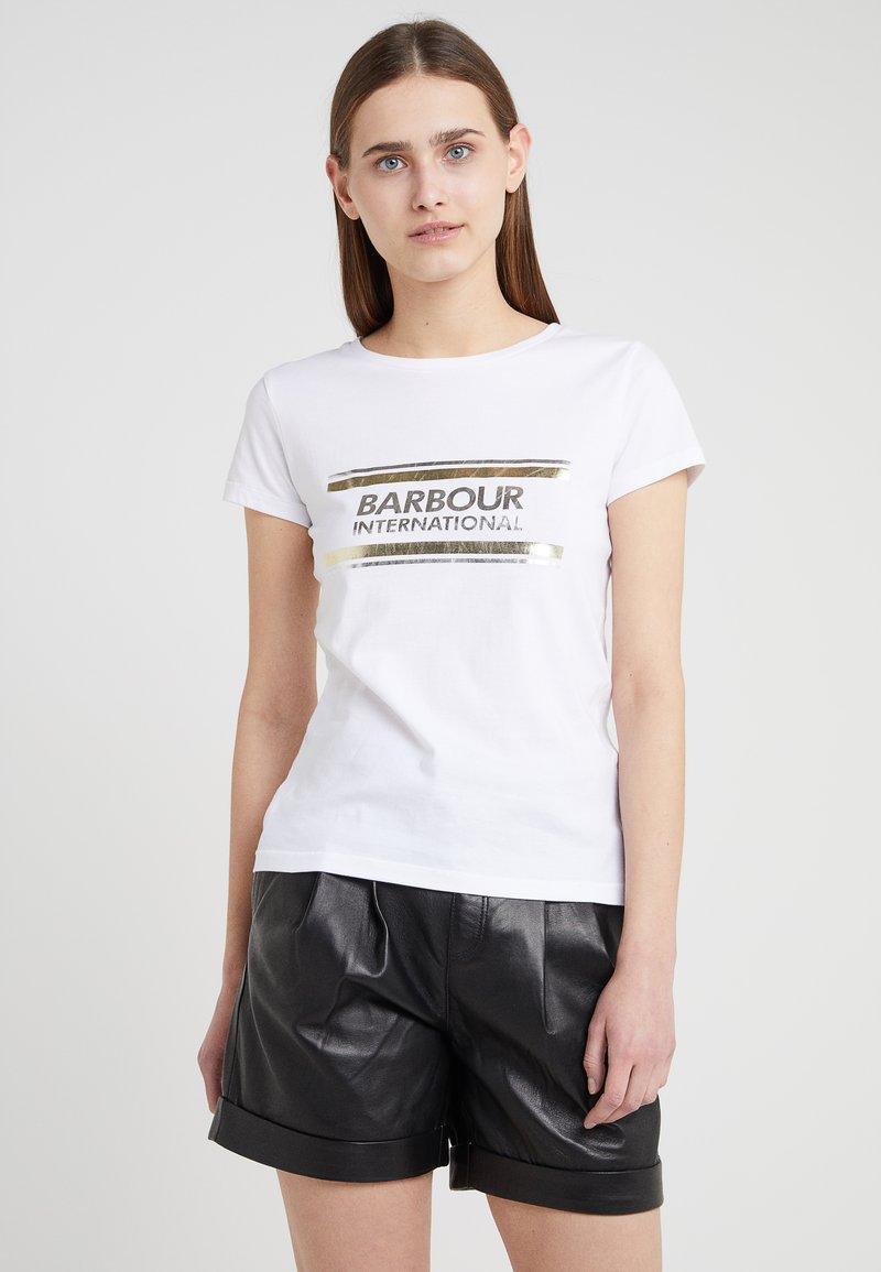 Barbour International - BLACKFLAG TEE - T-shirt print - white