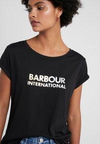 Barbour International - DORAN TEE - Print T-shirt - black - 4