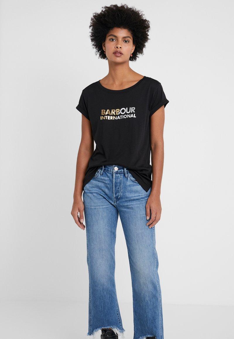 Barbour International - DORAN TEE - Print T-shirt - black
