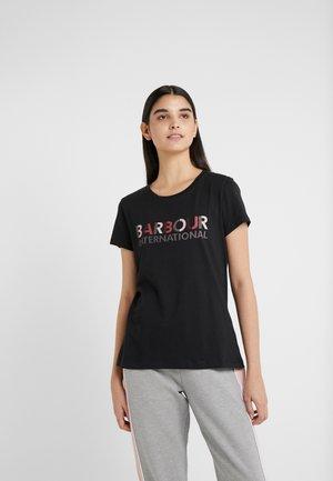 HATTRICK TEE - Print T-shirt - black