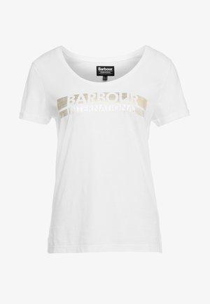 BASELINE TEE - Print T-shirt - white