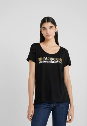 BASELINE TEE - Print T-shirt - black