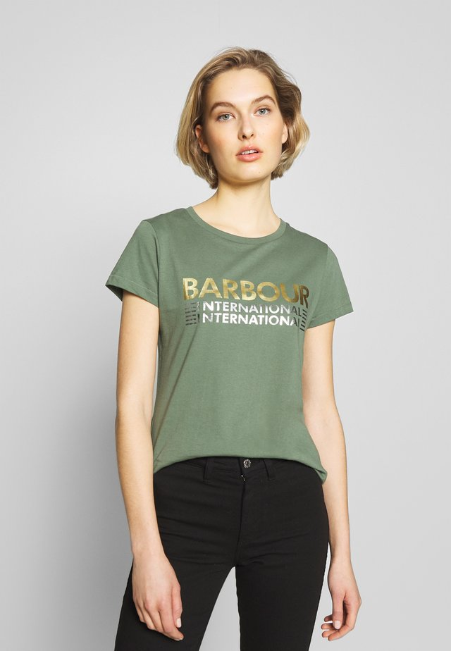 TRACKRACE TEE - T-Shirt print - tussock