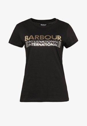 TRACKRACE TEE - Print T-shirt - black