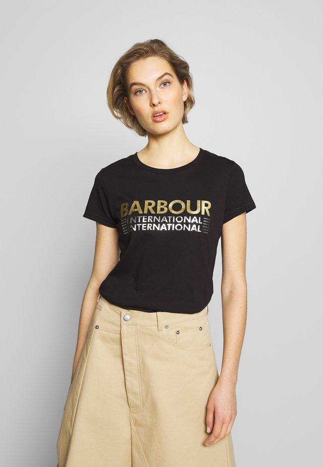 TRACKRACE TEE - T-Shirt print - black