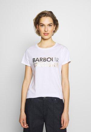 TRACKRACE TEE - Print T-shirt - white