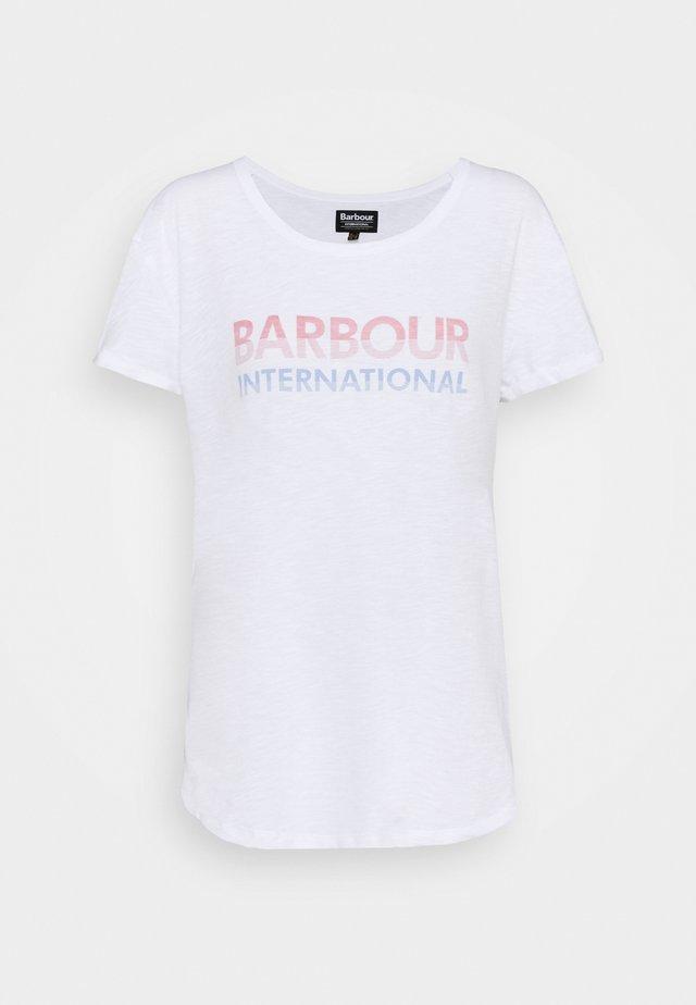 SPITFIRE TEE - T-shirt z nadrukiem - white