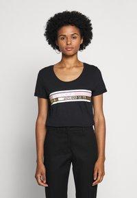 Barbour International - LIGHTNING TEE - Print T-shirt - black - 0